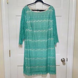 Green Lace Sheath Dress 22W
